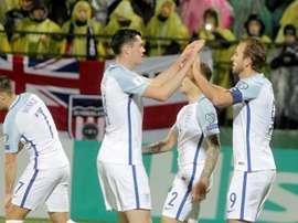 England beat Lithuania 1-0 on Sunday evening. AFP