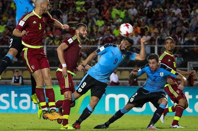 L'Uruguay ne devrait pas avoir trop de mal pour se qualifier. EFE
