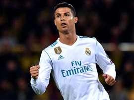 Ronaldo scored his first league goal of the season against Getafe. EFE/Archivo