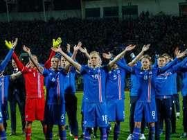 Para não variar, as celebrações islandesas foram de arrepiar. EFE