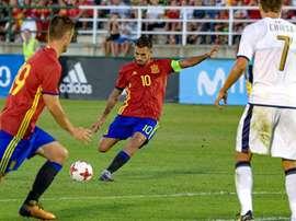 Dani Ceballos cerró la goleada a Eslovaquia marcando el cuarto del partido. EFE/Archivo