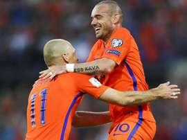 Sneijder est dans la ligne de mire. EFE