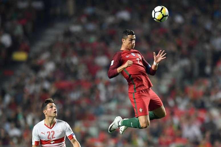 Cristiano Ronaldo mène la danse. AFP