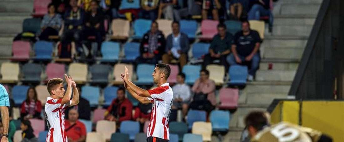 El Athletic dejó escapar un 0-2 ante el Barakaldo. EFE