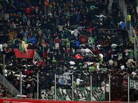 El Racing no ha podido pasar del empate sin goles ante el Tudelano. EFE/Archivo