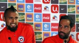 El triunfo de Temuco unió a Vidal y Bravo EFE/Archivo