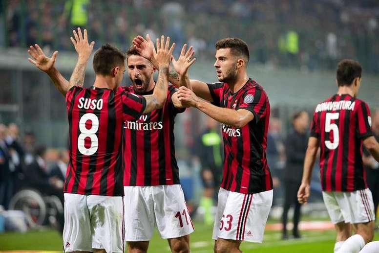 L'AC Milan affronte l'Inter en quart de finale de la Coupe d'Italie. EFE/EPA