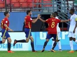Abel Ruiz hizo el tanto definitivo ante Francia. EFE
