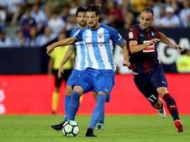 El jugador se lesionó en el calentamiento del encuentro frente al Leganés. EFE/Archivo
