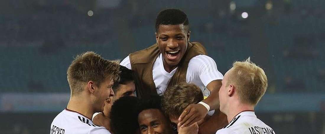 Alemania ya está entre las ocho mejores selecciones Sub 17 del mundo. EFE