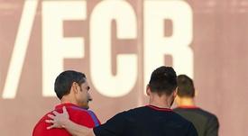 Valverde dosificará a Messi. EFE/Archivo