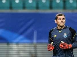 Casillas volvió a ser suplente, esta vez, en la Copa de la Liga. EFE