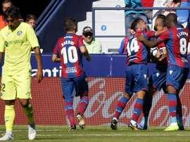 Levante y Getafe empataron a un gol y Fajr se fue descontento. EFE
