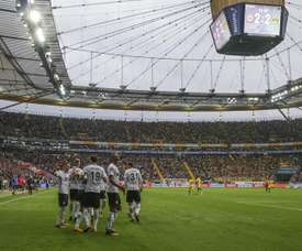 El Eintracht logró la victoria y asciende a la quinta plaza. EFE/Archivo