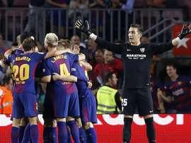 Le FC Barcelone se déplace à la Nueva Condomina pour affronter le Real Murcie. EFE