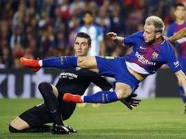 Andrés Prieto debutó en Primera en el Camp Nou. EFE