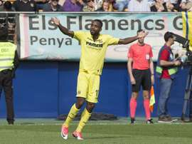 Bakambu had three disallowed goals during the match against Malaga. EFE