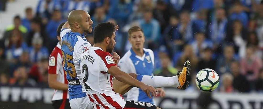 O Leganés bateu o Athletic de Bilbao por 1-0. EFE