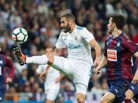 O Real Madrid visita ao Eibar neste sábado. EFE