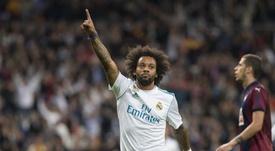 Marcelo fue uno de los goleadores en Mestalla. EFE
