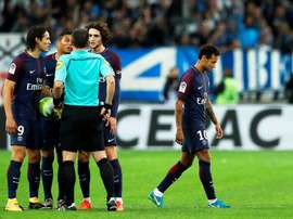 Neymar was sent off towards the end of the match. EFE/EPA