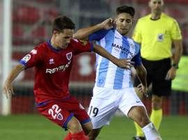 El Málaga se dejó remontar ante el Numancia en el descuento. EFE