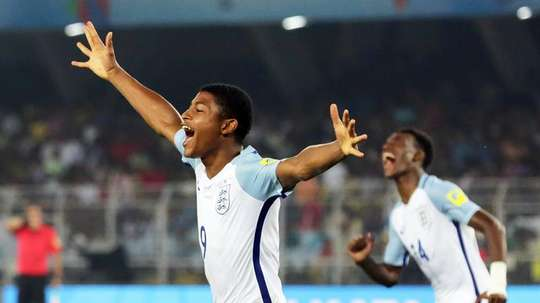 Rhian Brewster starred as England won the U17 World Cup in India last month. AFP