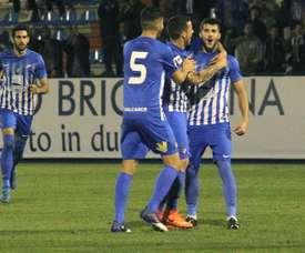 Empate sin goles entre la Ponferradina y Las Palmas Atlético. EFE