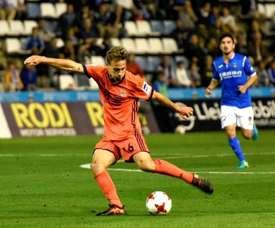 Ninguém dá mais gols na Europa League do que Sergio Canales. EFE