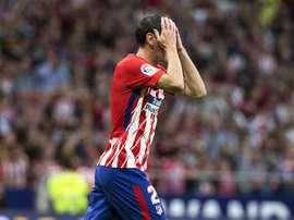 O Atlético empatou a uma bola com o Villarreal. EFE
