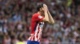 Diego Godín podría irse del Atleti este verano. EFE/Archivo