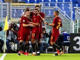 El Shaarawy foi a figura da vitória da Roma. AFP