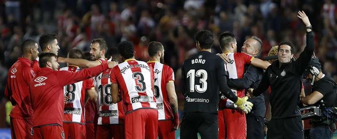Girona venceu o Real Madrid por 2-1. EFE
