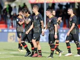 Os jogadores do Benevento voltaram a 'saborear' a derrota. EFE/EPA