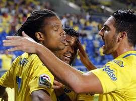 L'attaquant de Las Palmas intéresse les clubs français. EFE