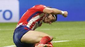 Filipe Luis no estadio Wanda Metropolitano. EFE