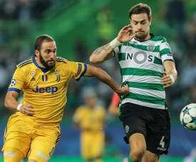 La Juve empató a uno en casa del Sporting de Lisboa. EFE