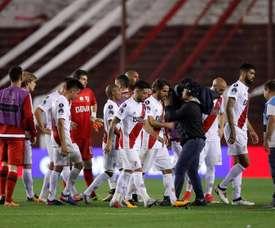 River cayó por la mínima ante Independiente. EFE