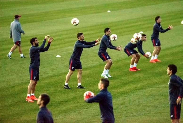 El Athletic realizó una sesión de recuperación. EFE/Archivo