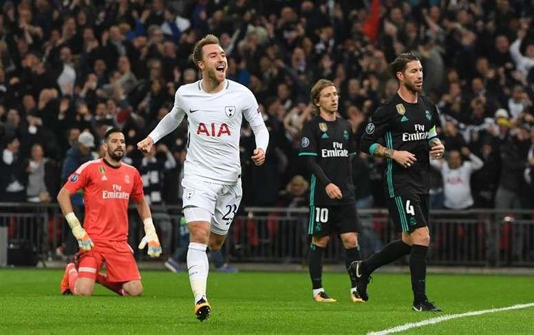 Daniel Levy's stance with Eriksen opens the door for Madrid . EFE