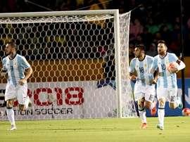 Extremo vai assim falhar os jogos da seleção da Argentina.EFE