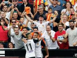 Valencia soma e segue no campeonato. EFE