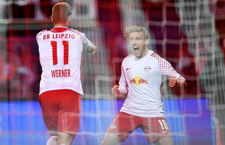 El RB Leipzig recibe la visita del Hertha de Berlín. EFE/EPA