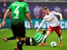 RB Leipzig e Mainz dividiram pontos neste sábado. EFE/EPA