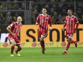 Bayern vence em Dortmund. AFP