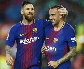 Alcacer was in fine form on his return to the Barca starting line-up. EFE
