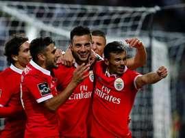 El Benfica parece que poco a poco alcanza su mejor nivel en Portugal. EFE