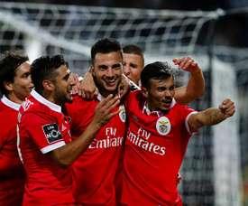 Andreas Samaris está em fim de contrato com o Benfica. AFP
