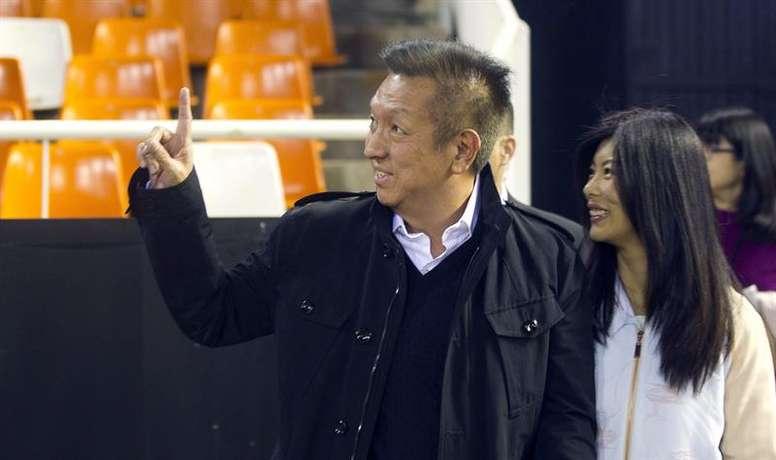 Peter Lim ya despidió a Marcelino. EFE