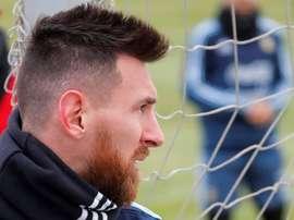 La star argentine a évoqué la pression qu'il a ressentie lors du match face à l'Équateur. EFE